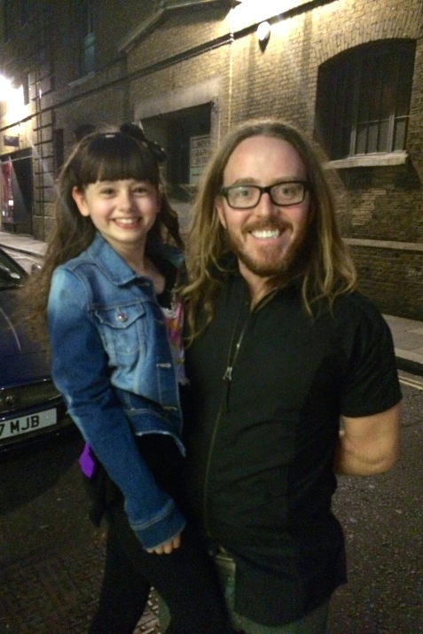 Meeting the amazing Tim Minchin at the stage door. So pleased he got to see me play Lavender!!