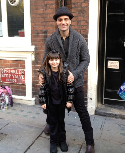 Me with the amazing Ramin Karimloo, who played Jean Val-Jean