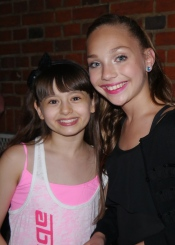With Maddie Ziegler from the US Dance Mums show, when she came to see me in Matilda The Musical