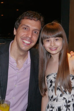 With the brilliant Alex Gaumond, who played Miss Trunchbull