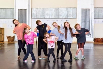 Rehearsing the Sound of Music with my team and Faye Brooks