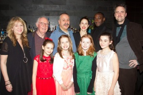 The Nether opening night party with the whole cast, the Director, Jeremy Herrin, and West End Producer, Sonia Friedman