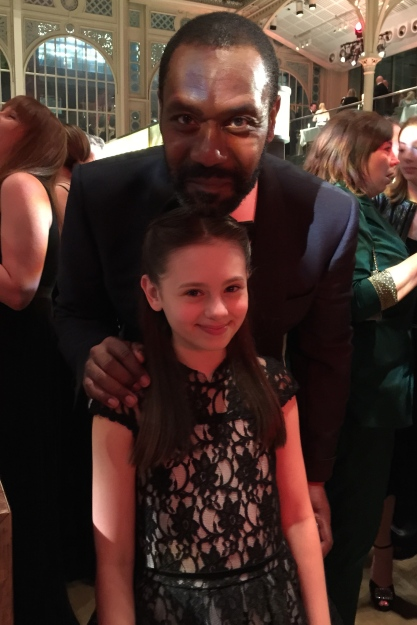 Jaime Adler with the Olivier Awards show host Lenny Henry... a very funny man!