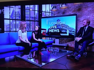 Lindsey Page, Director and Principle of West End MT, appearing on London Live News with Jaime Adler to promote charity single 'Love Is Christmas'