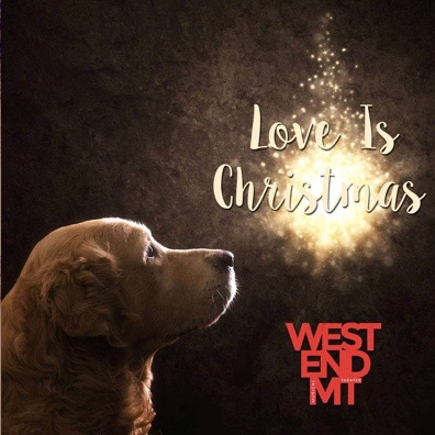 West End MT's charity Christmas single cover, for Battersea Dogs Home