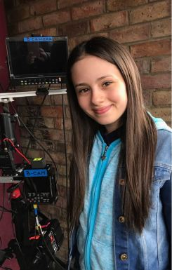 Jaime Adler on set, 'Damned' Series 2