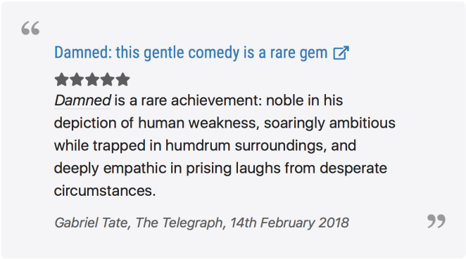 The Telegraph Review, Damned Series 2